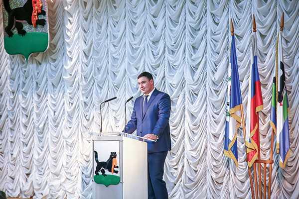 Изображение к статье Цель одна — служение людям: в Иркутске прошла инаугурация мэра Руслана Болотова На Иркутскинформ
