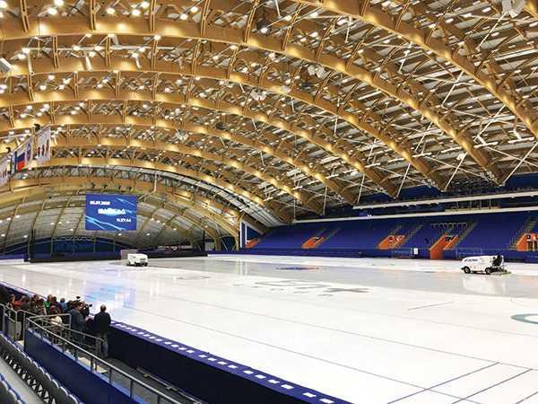 Изображение к статье «Восток» встречается в «Байкале» : новый ледовый дворец готов принять игры Кубка России по хоккею с мячом На Иркутскинформ