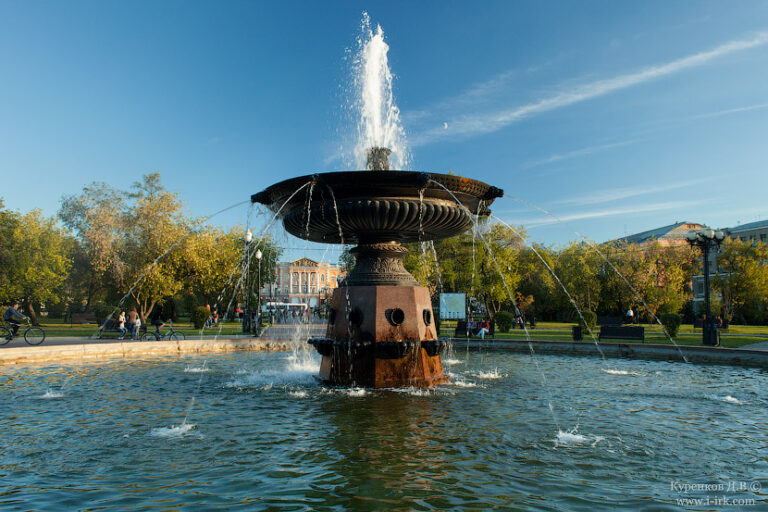 фонтан сквер кирова