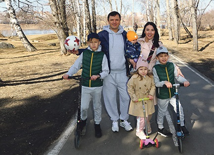 спортивная семья
