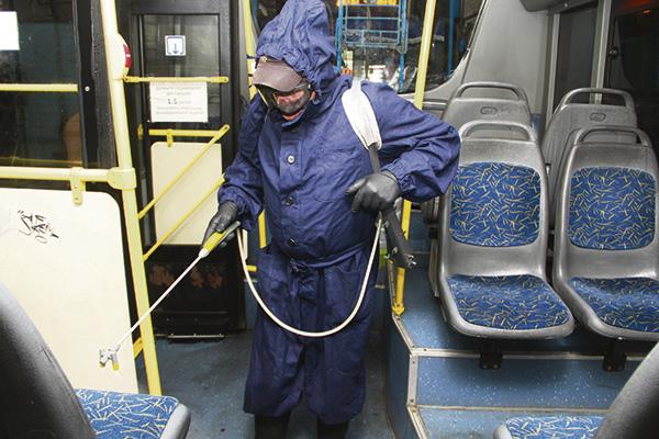 автобус дезинфекция